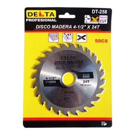 DISCO MADERA 4-1/2 X 24 DELTA