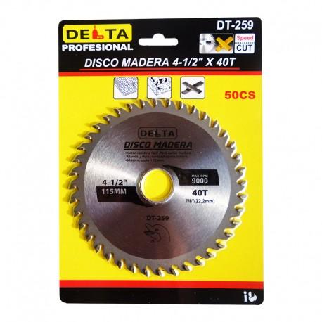 DISCO MADERA 4-1/2 X 40 DELTA
