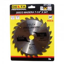 DISCO MADERA 7-1/4 X 24 DELTA